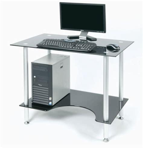Aluminum Computer Desk Zyon Zb500 Contemporary Black Glass Aluminum Computer Office Pc Workstation Desk W Ergonomic