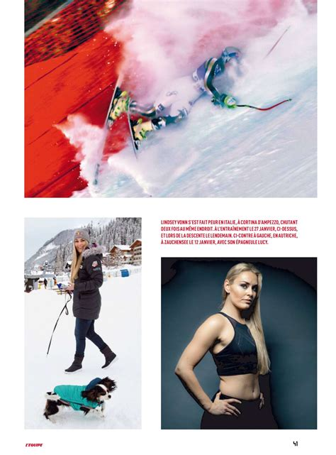 lindsey vonn back squat lindsey vonn lequipe magazine 2017 02 gotceleb