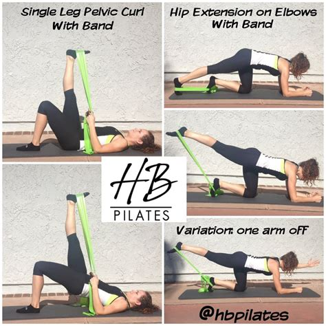 a few hamstring and glut exercises that be done at how with a resistance band work it out