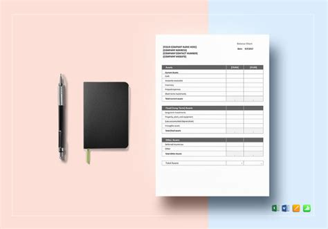 Balance Sheet 18 Free Word Excel Pdf Documents Download Free Premium Templates Editable Balance Sheet Template