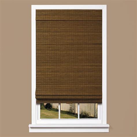 thro home l shade homebasics zig zag woven bamboo cordless