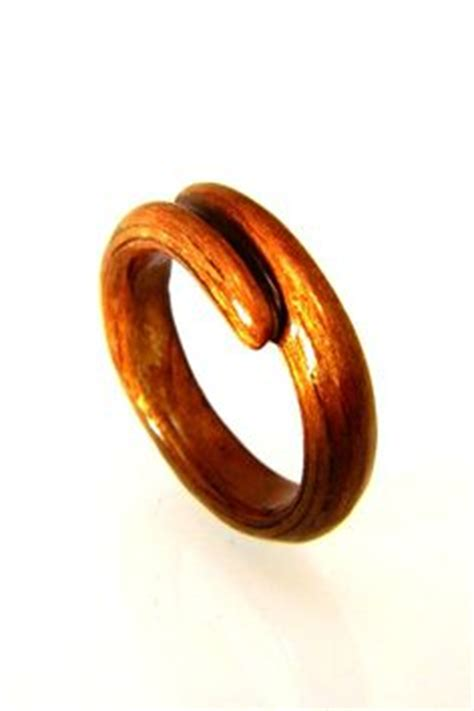 carved wooden ring wood ring gift idea
