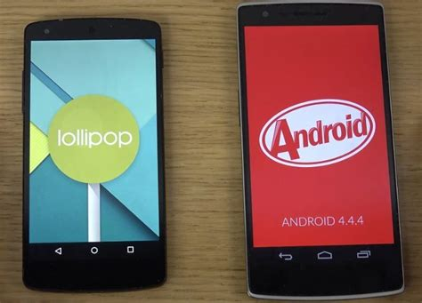 android lollipop phones nexus 5 android 5 0 lollipop vs oneplus one 4 4 kitkat cyanogenmod 11s review phonesreviews uk