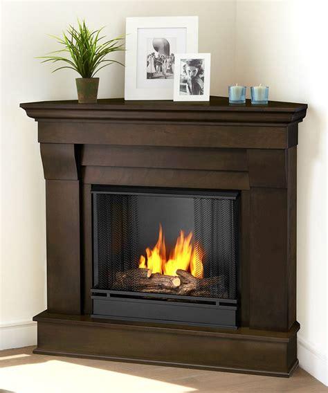 Dark Walnut Chateau Ventless Gel Corner Fireplace