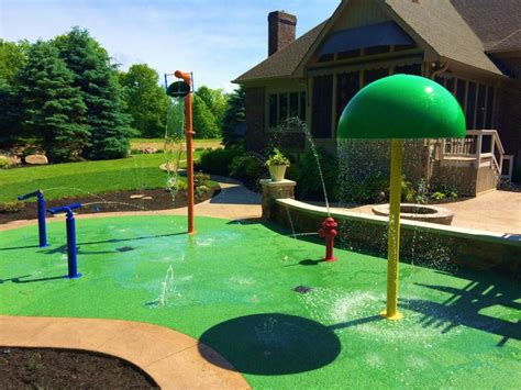 backyard splash pad 100 best images about residential backyard splash pad on