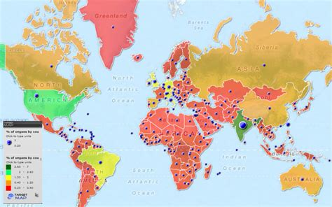 veganism in an oppressive world a vegans of color community project books world map of estimated percentage of vegans by country by