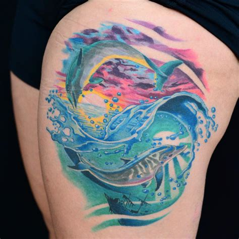 dolphin tattoos 65 best dolphin designs meaning 2018 ideas