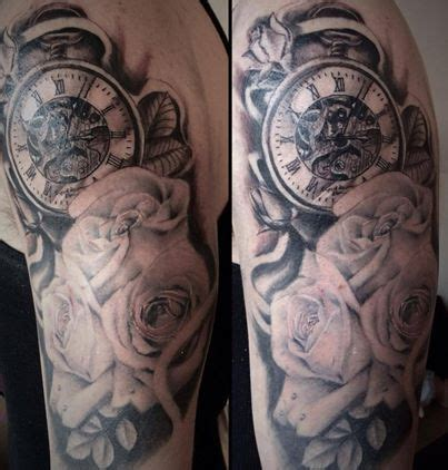 black and grey tattoo removal black and grey floral and pocket watch tattoo 6 hours by
