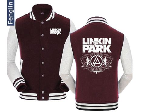 Zipper Linkin Parksmlxl 4 slim baseball jackets rock band linkin park sweatshirt with zipper for popular