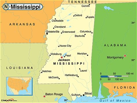 mississippi physical map mississippi political map by maps from maps