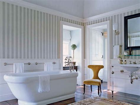 Wallpaper In Bathroom Ideas by Decoration Wallpaper For Bathrooms Ideas With Striped