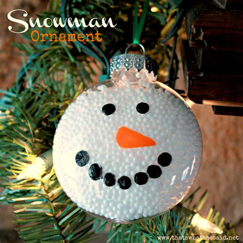 snowman ornaments kids crafts