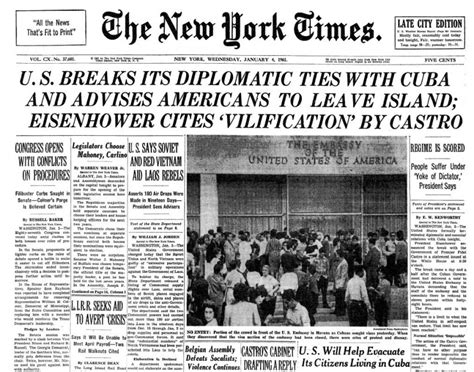 Baremiinerals In The New York Times by Cuba Usa La Rottura 1961 Sulle Pagine New York