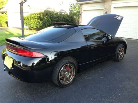 sell used 1996 black gsx mitsubishi eclipse awd manual trans in oswego illinois united states