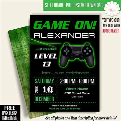free printable birthday invitations video games game on invitation video game party invitation gaming
