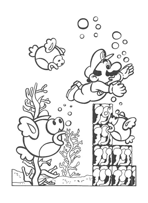 nintendo mario coloring pages super mario bros pics coloring home