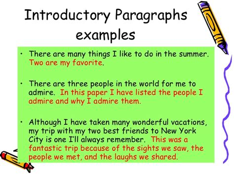 Exles Of Introductory Sentences For Essays by Methods For Writing Topic Sentences