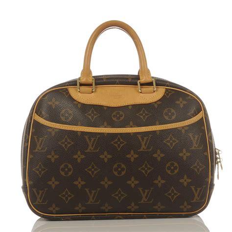 Louis Vuitton Monogrammed Shearling Handbag by Authentic Louis Vuitton Monogram Trouville Handbag Ebay
