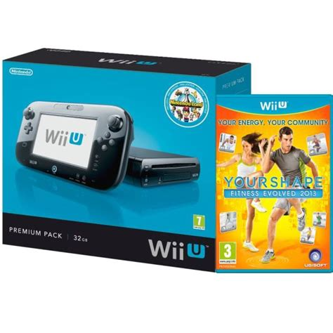 Stensil Console Wii wii u console 32gb nintendo land premium bundle black includes your shape fitness evolved