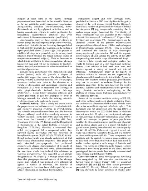 Review Related Literature Of Malunggay by Malunggay Evidence For Its Nutritional Contents More Info On