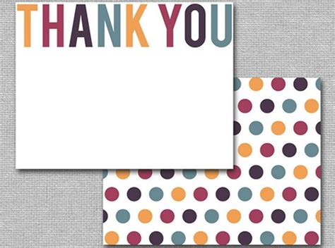 single thank you card blank template 25 beautiful printable thank you card templates xdesigns
