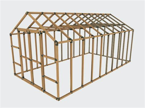 Shed Frame Kit by 10x20 E Z Frame Basic Kit