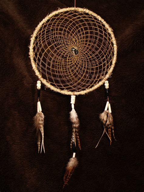 Handmade Dreamcatcher - handmade dreamcatcher with snowflake obsidian