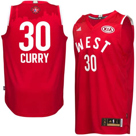 Jersey Stelancelana Basket Nba All West s nba western conference stephen curry adidas 2016