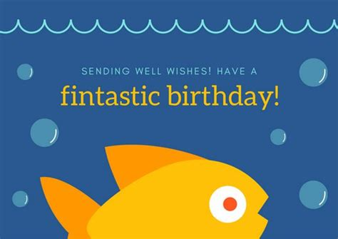 fish birthday card template customize 47 birthday postcard templates canva