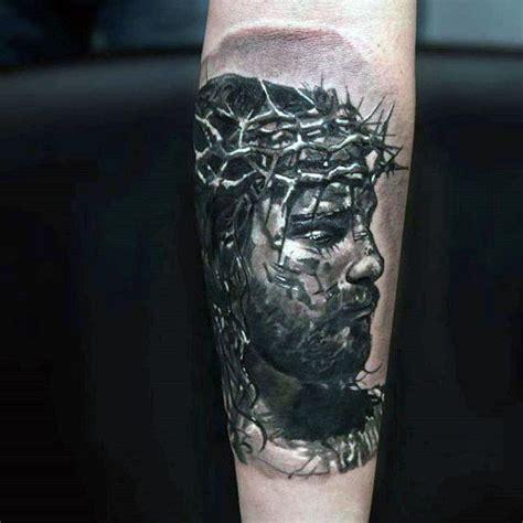 jesus forearm tattoo 50 jesus forearm tattoo designs for men christ ink ideas