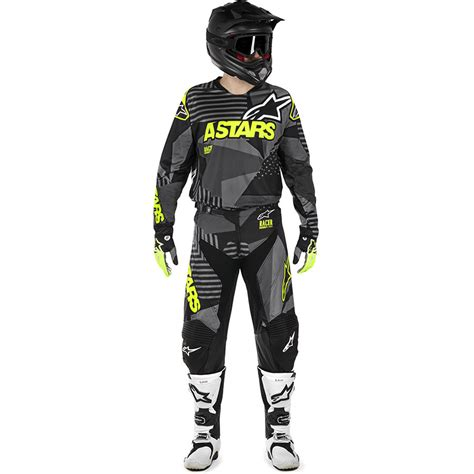 alpinestars motocross gear alpinestars 2018 racer tactical black fluro gear set at