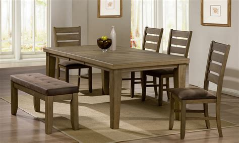 Dining Room Tables With Benches Homesfeed Dining Room Table Sets With Bench