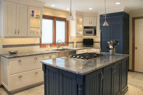 pictures of kitchens traditional blue kitchen cabinets blue white traditional kitchen