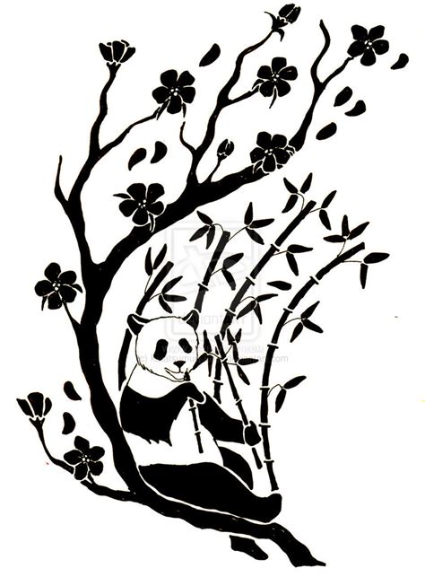 tribal panda tattoo tribal panda cliparts co