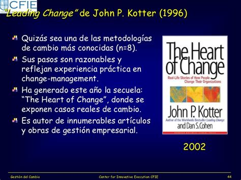 libro the heart of change taller gesti 243 n del cambio