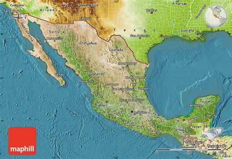 physical maps of mexico satellite map of mexico physical outside satellite sea