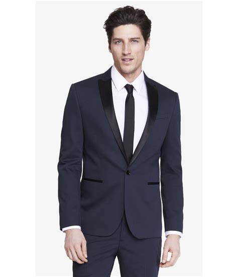 tuxedo colors express slim photographer color block tuxedo jacket in