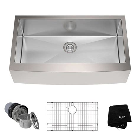 36 apron front kitchen sink kraus farmhouse apron front stainless steel 36 in single