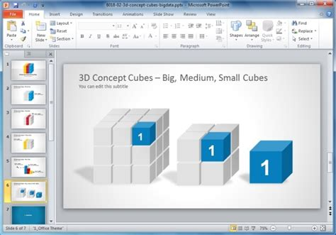 cube powerpoint template cool shapes for powerpoint presentations