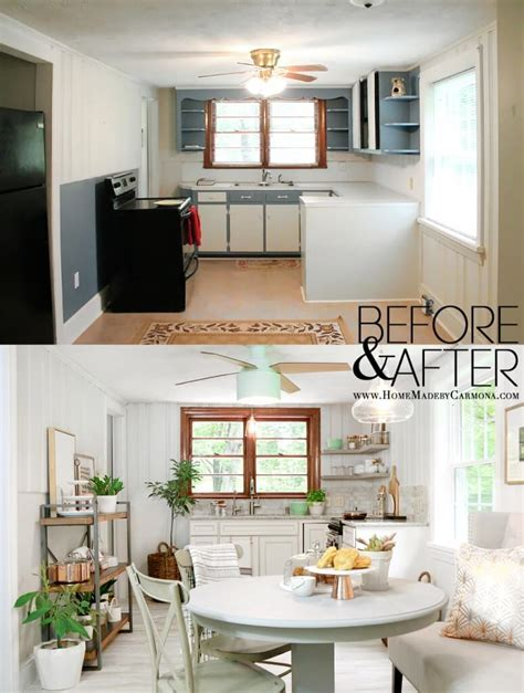 before after modern cottage in small cottage kitchen remodel the plumbing is in home