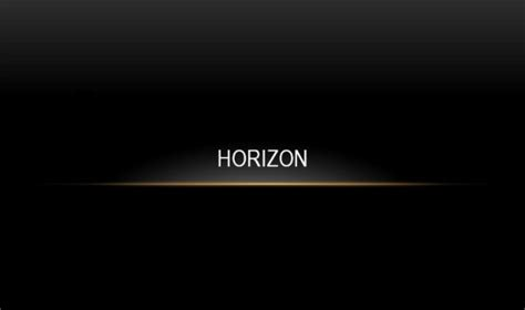 ppt themes black horizon powerpoint template