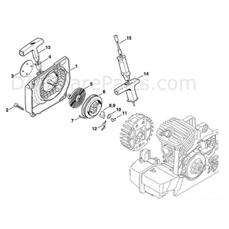 stihl ms 310 parts diagram stihl ms 310 chainsaw ms310 parts diagram fan housing