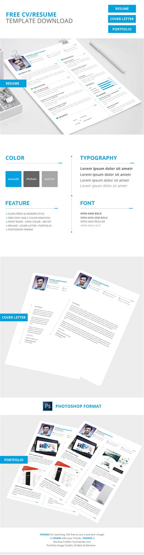 Free Creative Resume Cv Template Download On Behance Free Creative