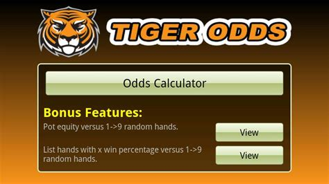tiger odds calculator android apps on play