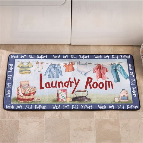 Laundry Room Mats by Wash Fold Repeat Colorful Washday Laundry Room Novelty