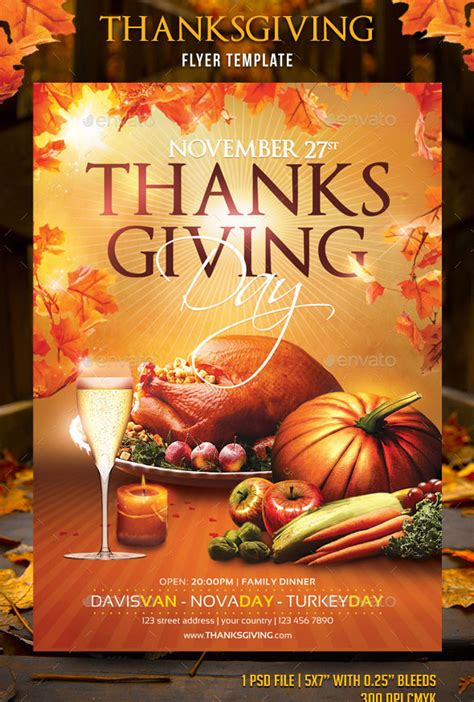 20 Best Psd Thanksgiving Flyer Templates Print Idesignow Thanksgiving Flyer Template