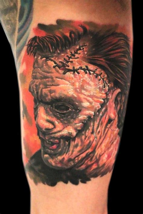 leatherface tattoo leatherface by jhon gutti tattoos
