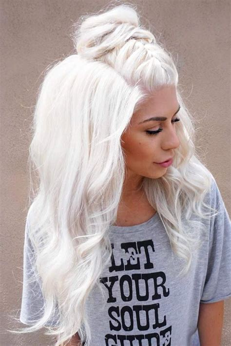 platinum blonde on the bottom and dark blonde om the top de 20 bedste id 233 er inden for blonde hair colors p 229