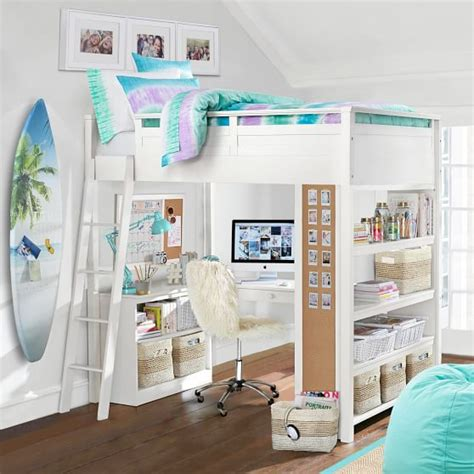 teenage girl bunk beds sleep study 174 loft pbteen