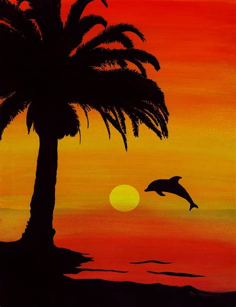 Home Decor Blogs South Africa by Dolphin Sunset Painting By Barbara St Jean